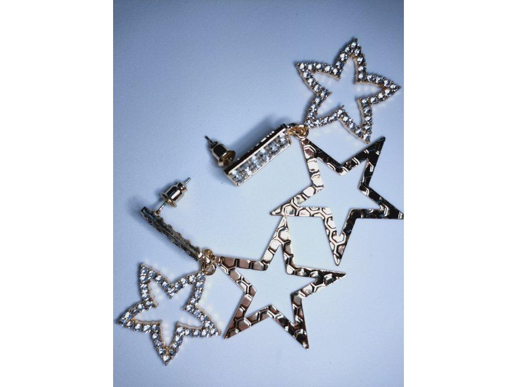 Nové módní krystalové náušnice, hvězdičky