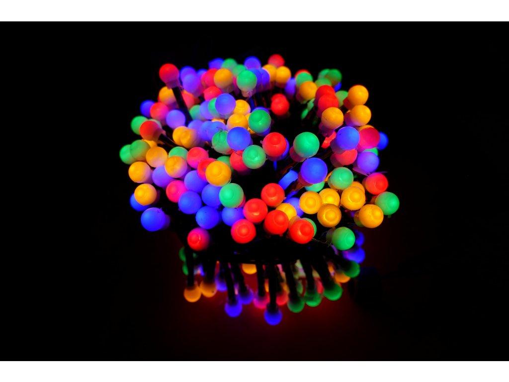 Venkovní vánoční LED řetěz s kuličkami, 6m, 300 LED diod - různobarevná