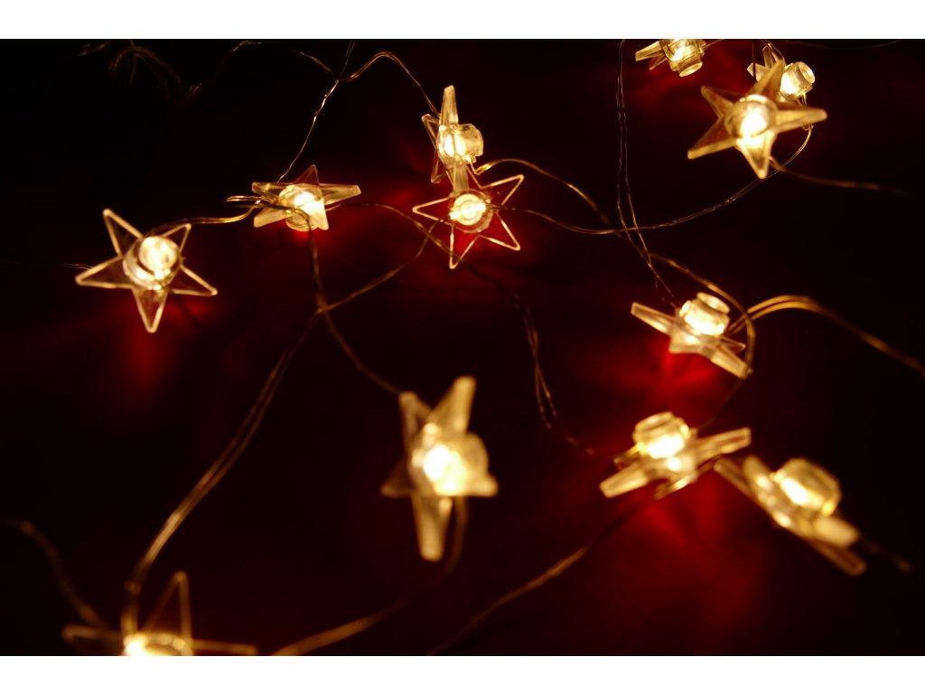 Vnitřní LED vánoční mini řetěz - hvězdičky