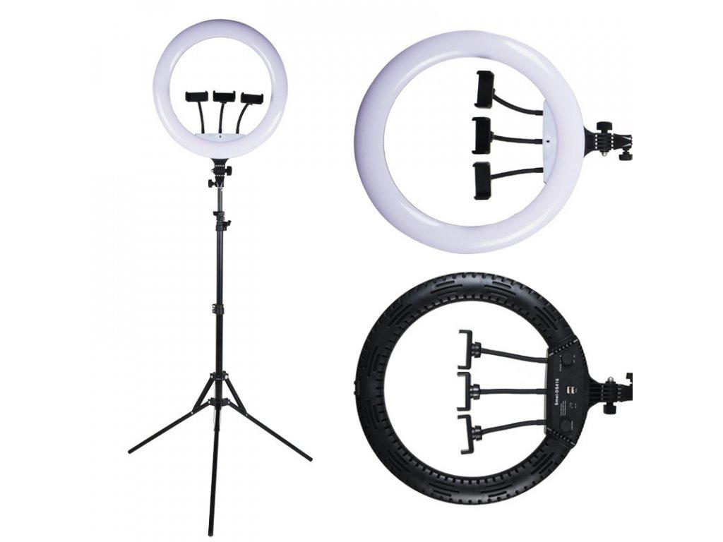 """Kruhové LED světlo na focení a natáčení - 14"""" (35cm) LED ring set"""