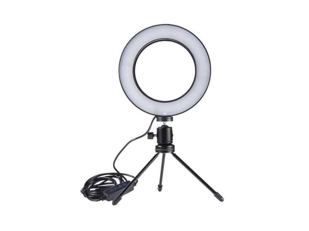 """Kruhové LED světlo na focení a natáčení - 6"""" (15 cm) LED ring set"""