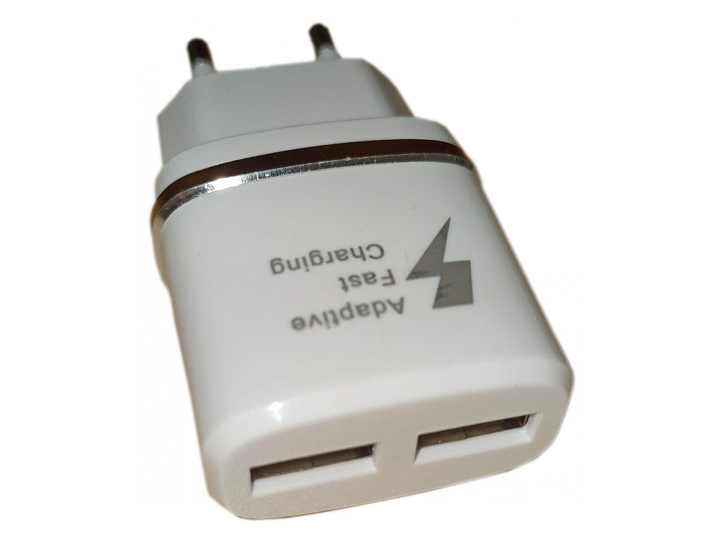Univerzální USB Adaptér, 2x USB - nabíječka 2,1A