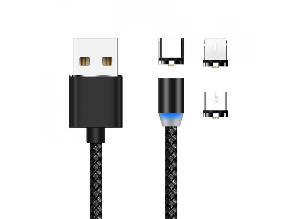 Magnetický USB nabíjecí kabel 3v1