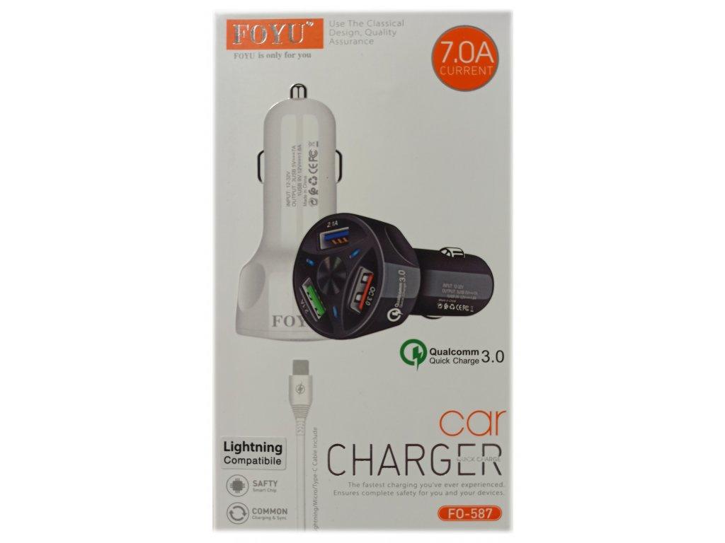 Auto nabíječka pro iPhone a iPad + Lightning kabel