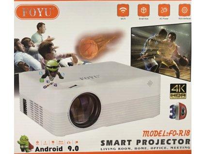 Chytrý projektor WiFi FO-R18 s operačním systémem Android