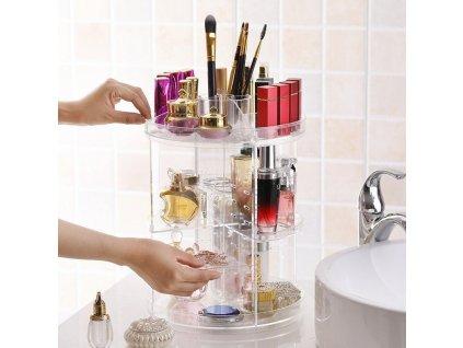 vrashhayushhijsya organajzer dlya kosmetiki gw 288 cosmetic storage box rotative rack