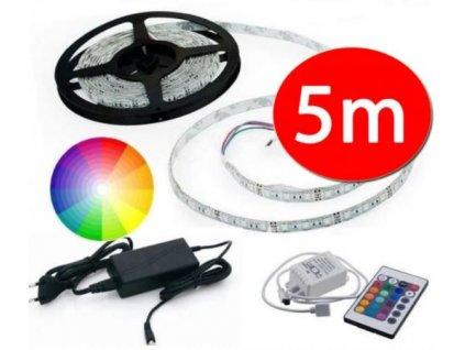 Barevný LED pásek 5m