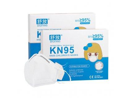 Dětský respirátor KN95/FFP2, 10 ks, pro děti do 10 let