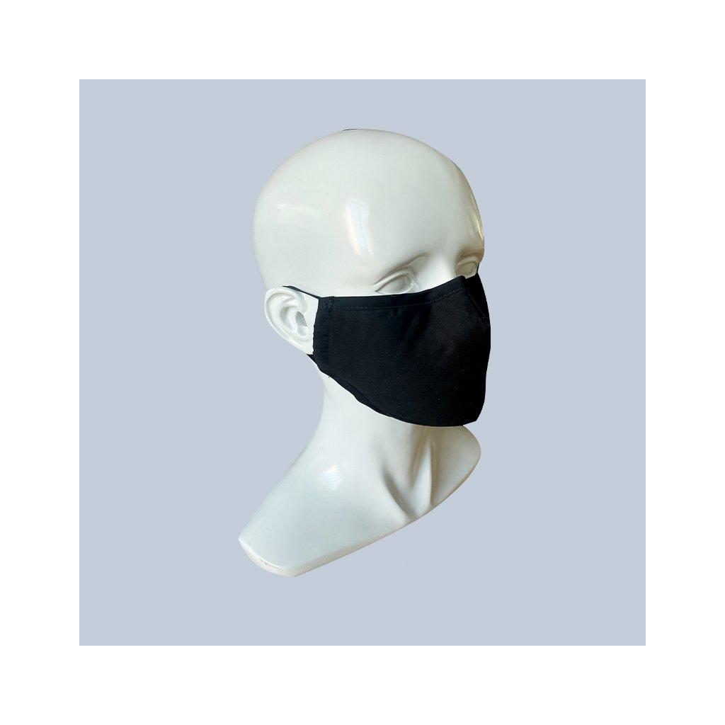 rouška textilní černá