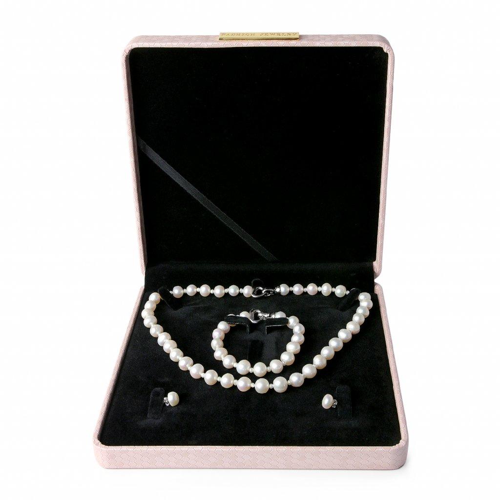 Luxusní dárková krabička na šperky 18,5 *18,5 cm bílá