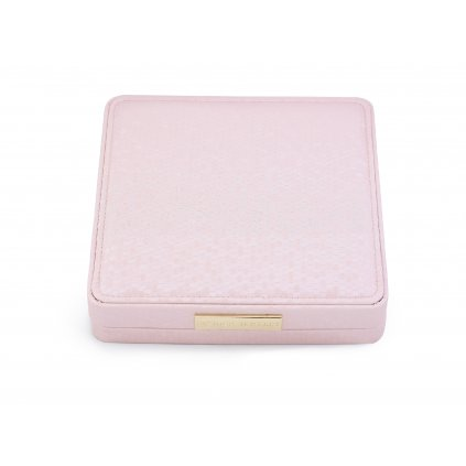 Luxusní dárková krabička na šperky 8,5 * 9cm růžová