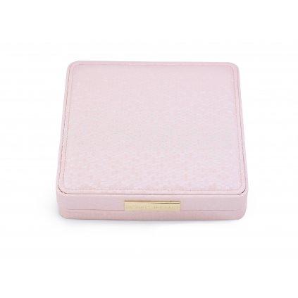 Luxusní dárková krabička na šperky 18,5 *18,5 cm růžová
