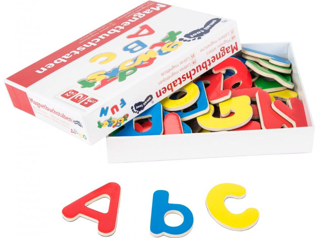 Drevené magnetky-abeceda