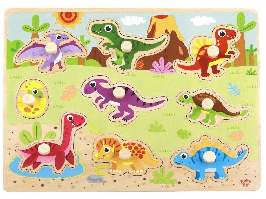 Vkladacie puzzle Dinosaury