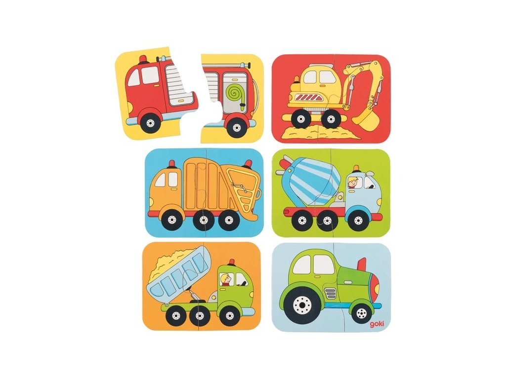 Prvé puzzle Nákladné autá a stroje