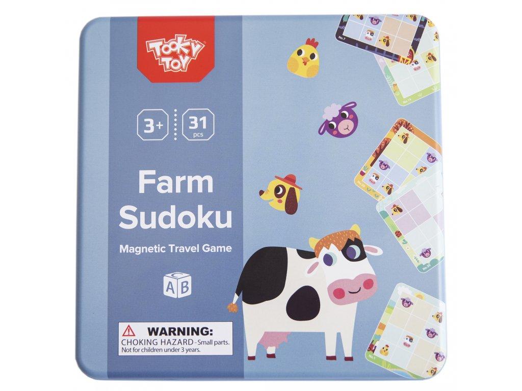 Magnetické sudoku Zvieratá na farme