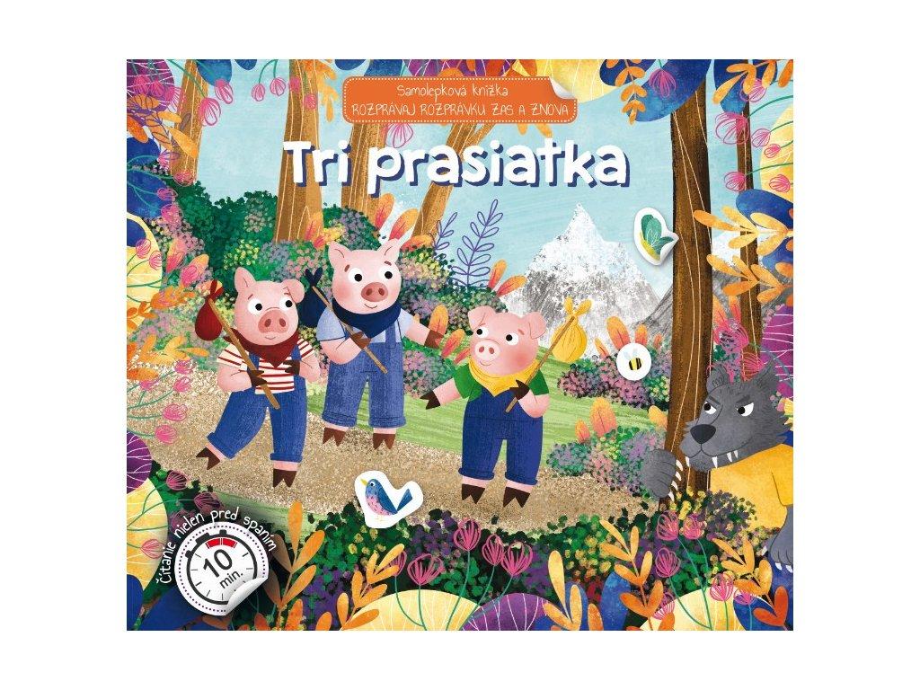 Tri prasiatka Samolepková knižka