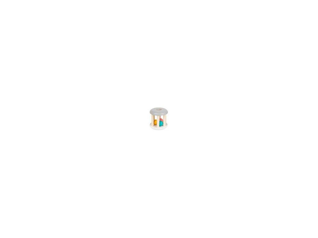 pastelova hrkalka chrastitko valec seda small foot by legler LE11712 74x74