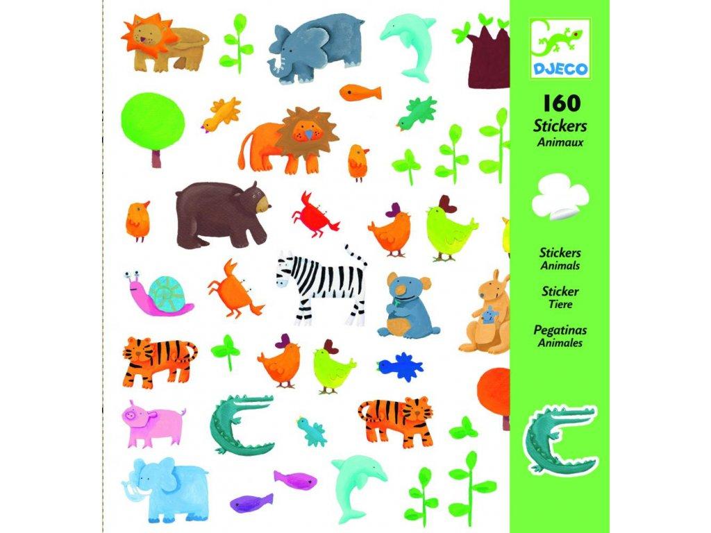 Samolepky  Zvieratká (160 ks)