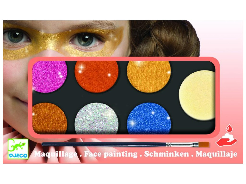 Farby na tvár – metalické farby