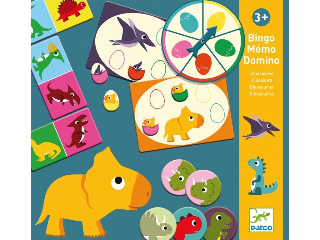 Tri vzdelávacie hry (bingo, pexeso a domino) – Dinosaury