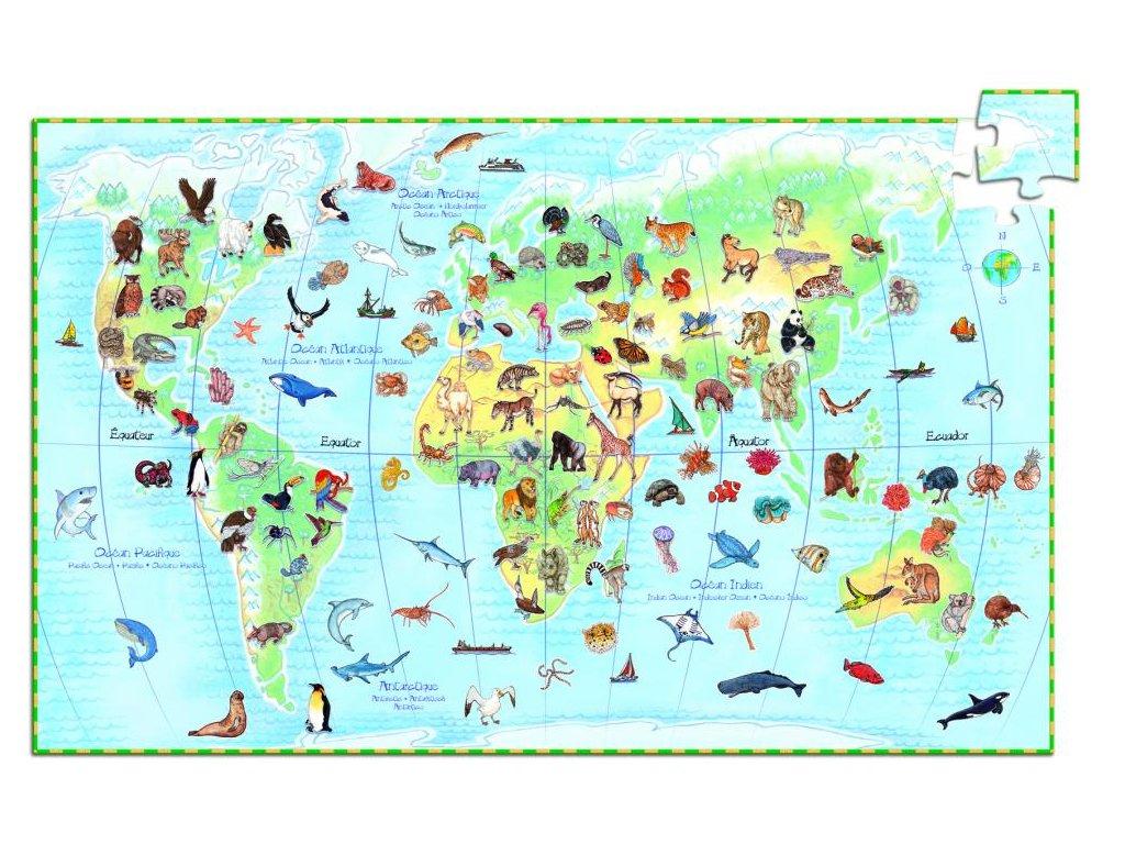 Náučné puzzle  Zvieratá sveta