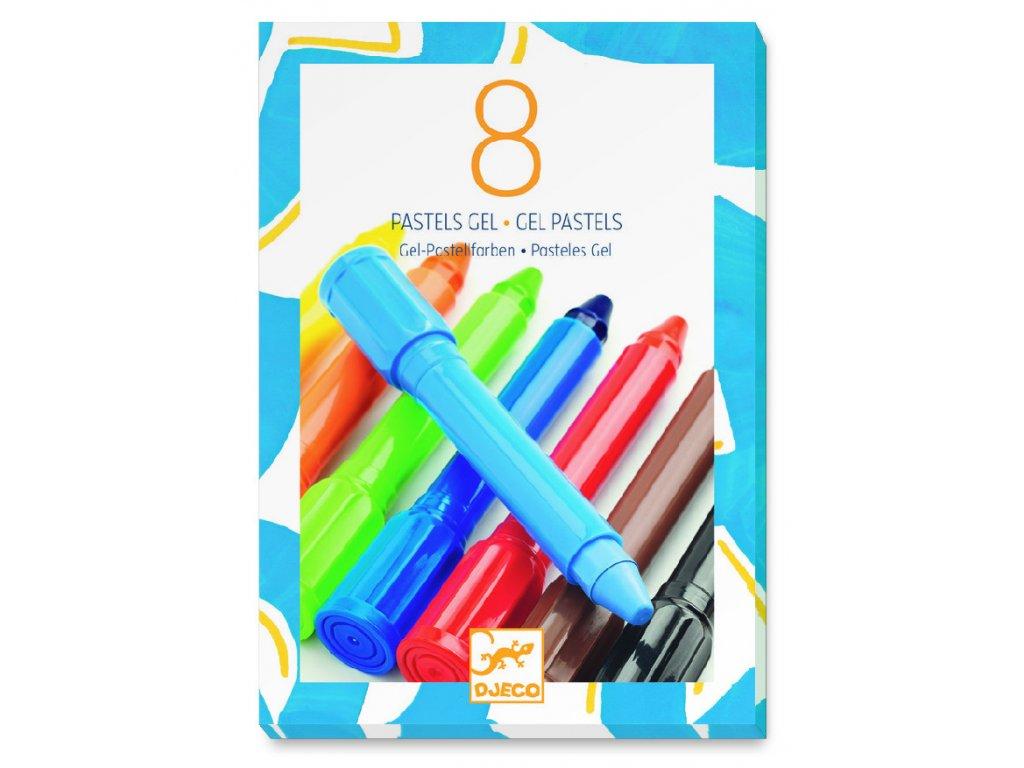 Sada gélových pasteliek - základné farby (8 ks)