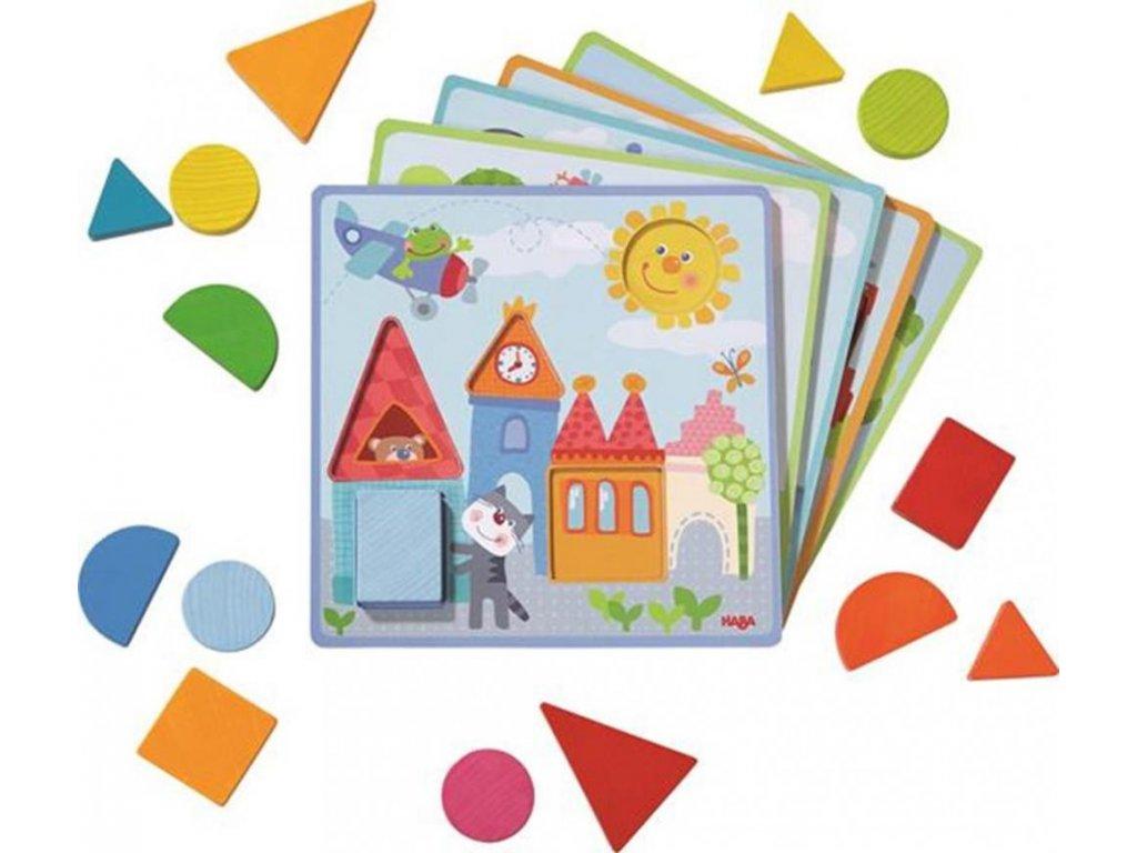 Haba Drevená hračka Zvieratká Tvary a farby