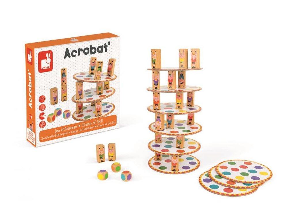 Janod rodinná spoločenská hra pre deti Akrobat