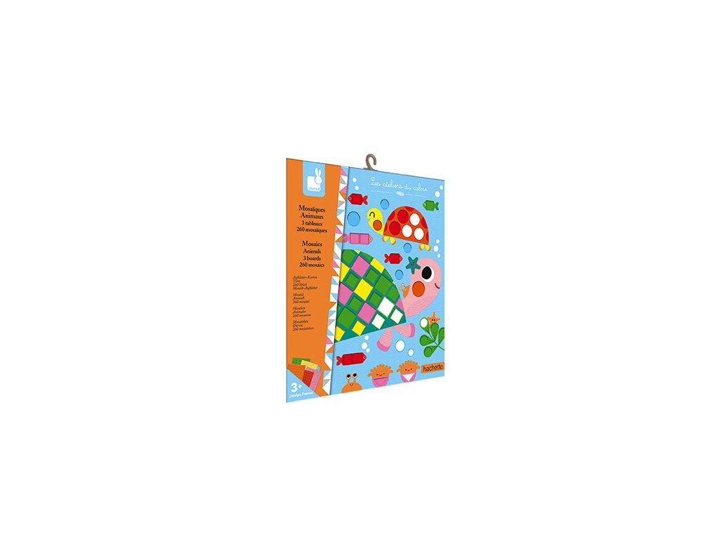 Janod mozaika Zvieratká Atelier Sada Mini 3+