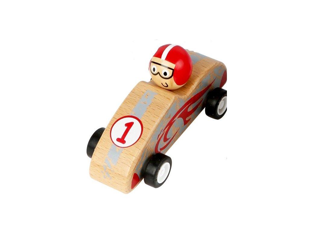 Závodné autíčko červené