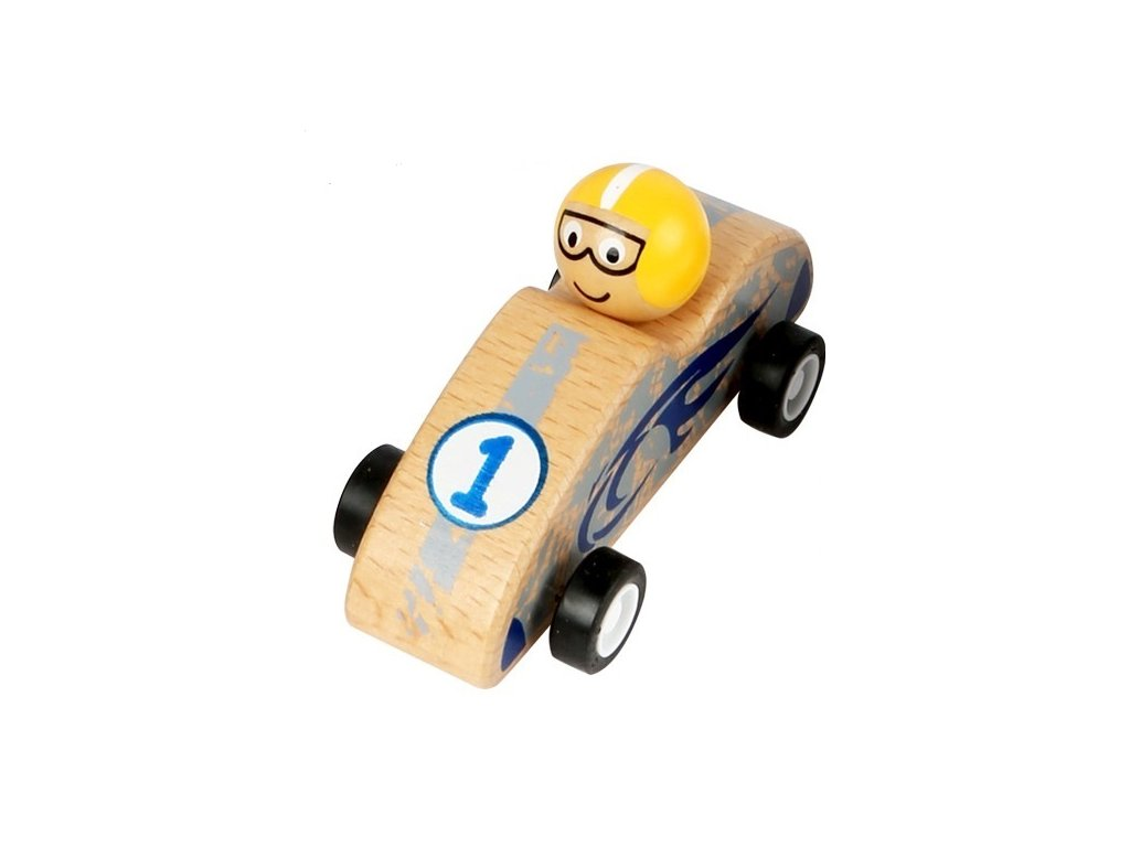 Závodné autíčko žlté