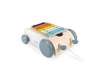 Janod  Sweet Cocoon vozík s xylofónom