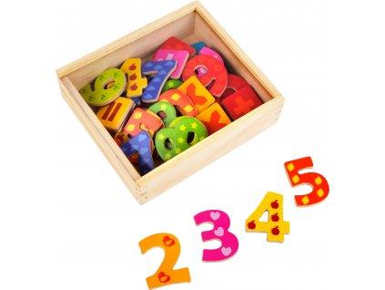 Drevené magnetky-číslice