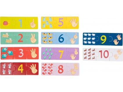 Edukatívne puzzle Počítanie