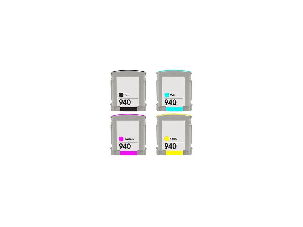 HP 940 XL (C4906AE+C4907AE+C4908AE+C4909AE)  multipack - kompatibilný