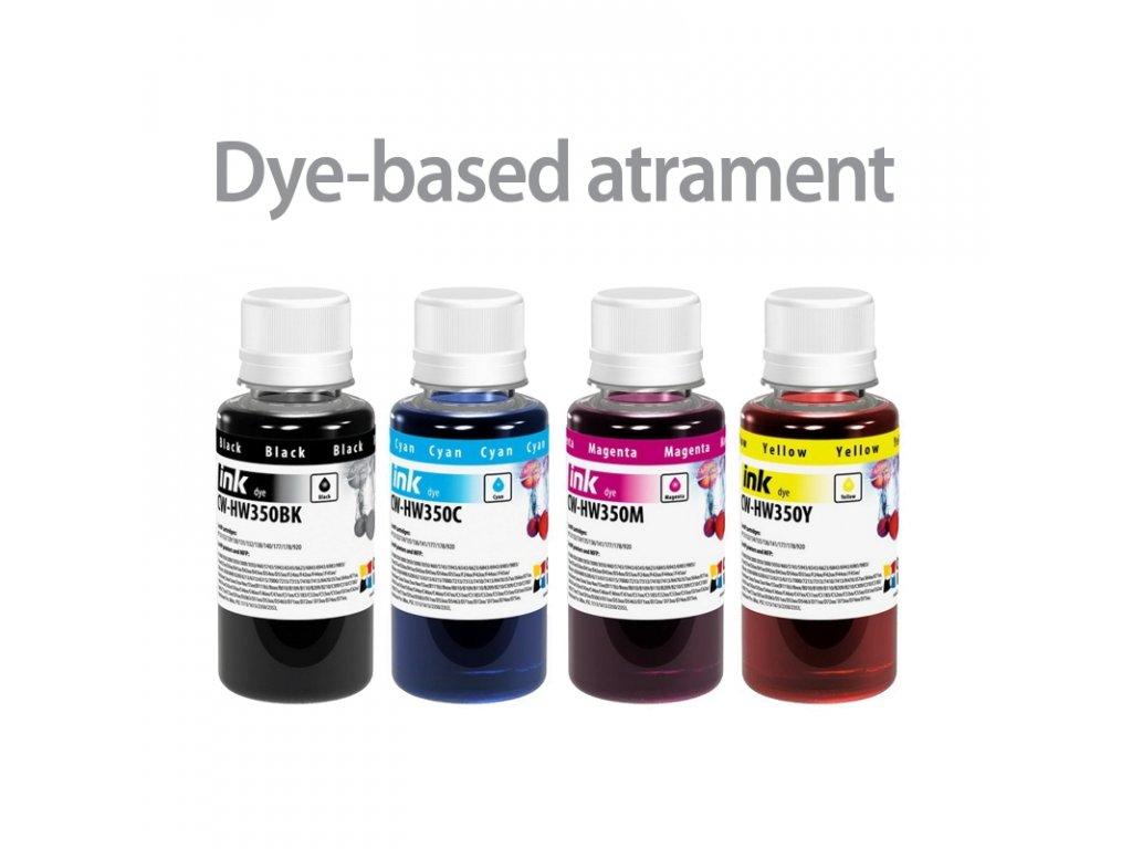hp 4x100ml dye atramenty na plnenie vo flaskach
