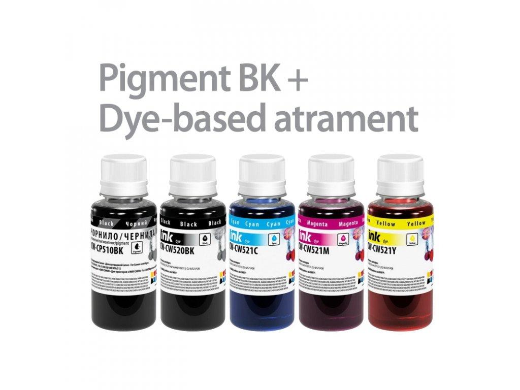 canon 5x100ml pigmentbk+dyebased