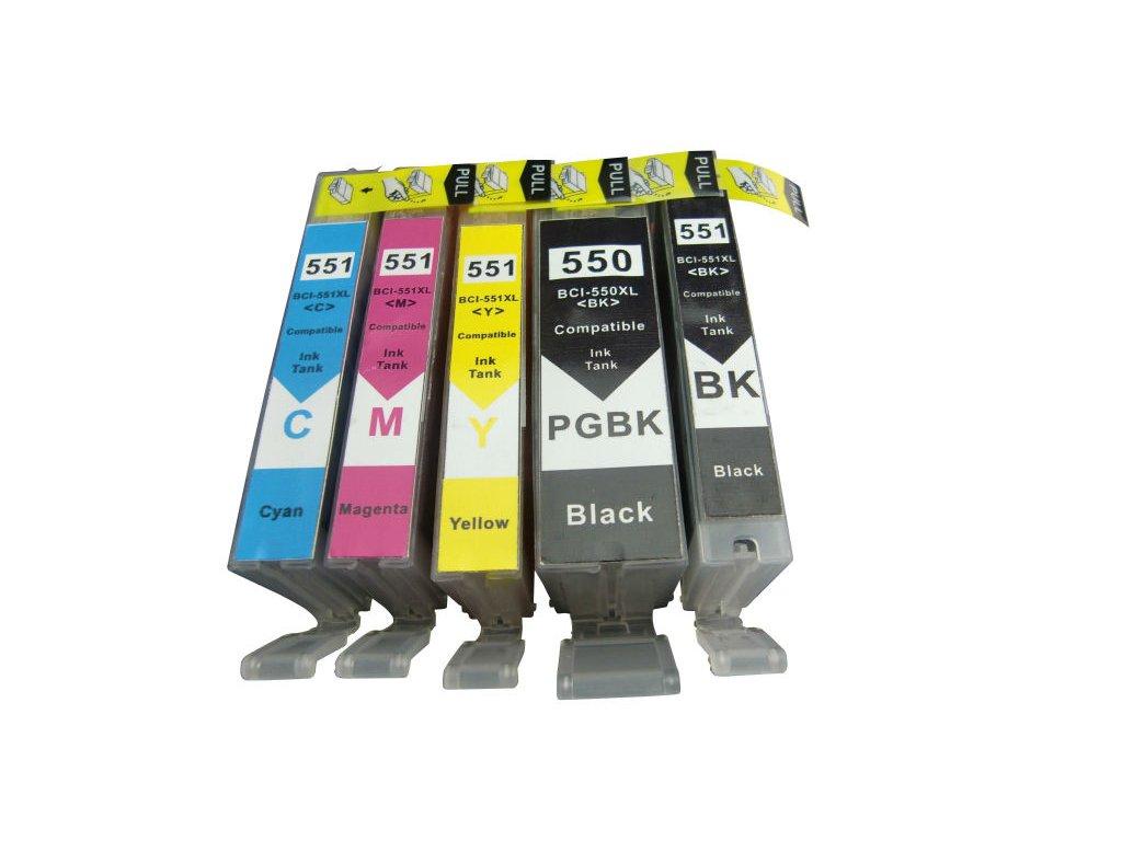 Canon PGI-550 XL / CLI-551 XL multipack (5 náplní) - kompatibilný