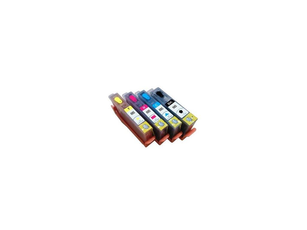 HP 655 XL plniteľné kazety s resetovacími čipmi