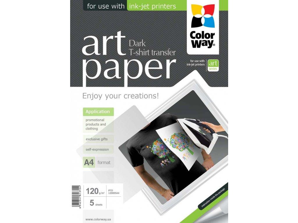 Nažehľovací papier CW na tmavý textil 120g/m2,A4,5ks