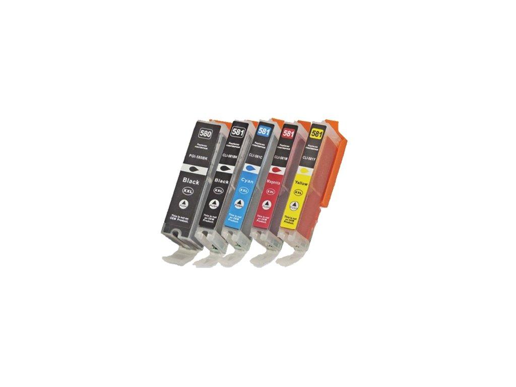 canon pgi580bk cli581cmy vyhodne balenie kompatibilne kazety multipack