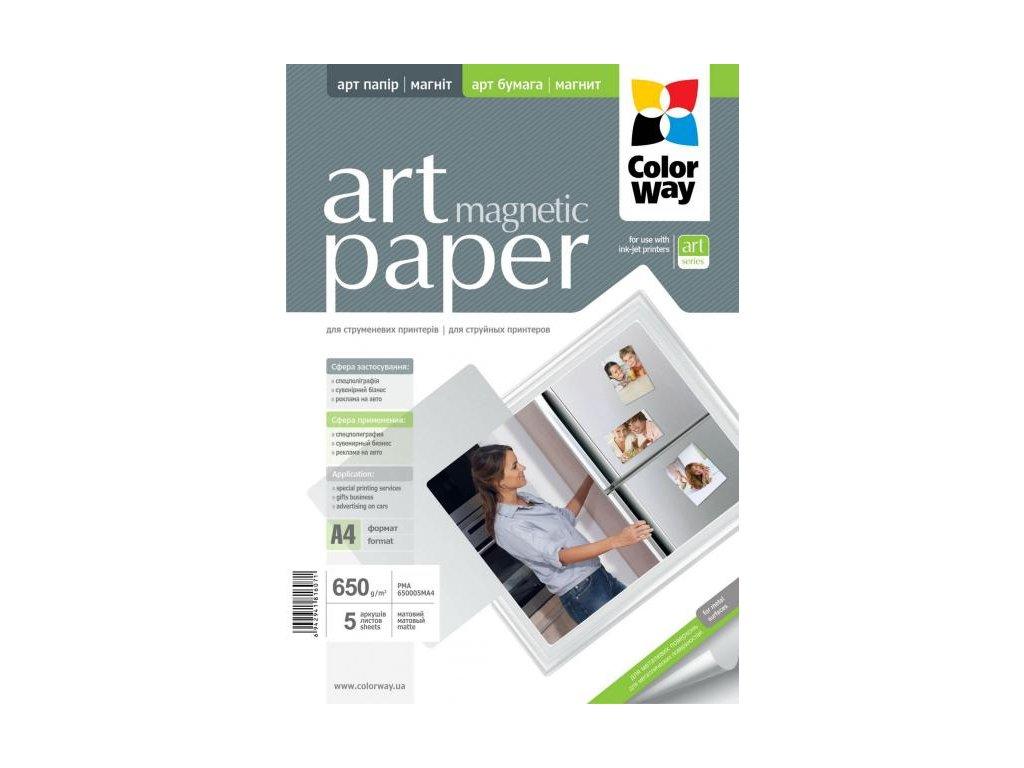 Fotopapier CW ART Matný Magnetický 650g/m²,5ks,A4