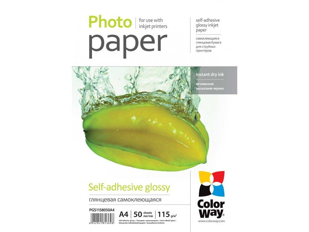 Fotopapier CW Lesklý samolepiaci 115/80g/m²,50ks,A4