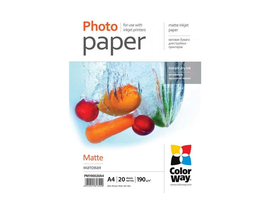 Fotopapier CW Matný 190g/m2,20ks,A4