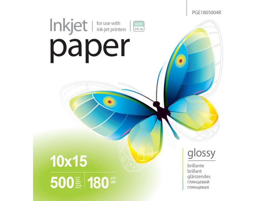 Fotopapier PrintPro Vysoko lesklý 180g/m²,500ks,10x15