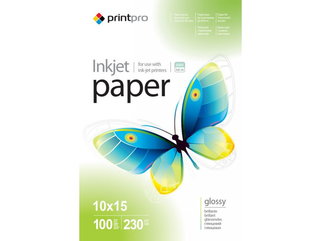 Fotopapier PrintPro Vysoko lesklý 230g/m2,100ks,10x15