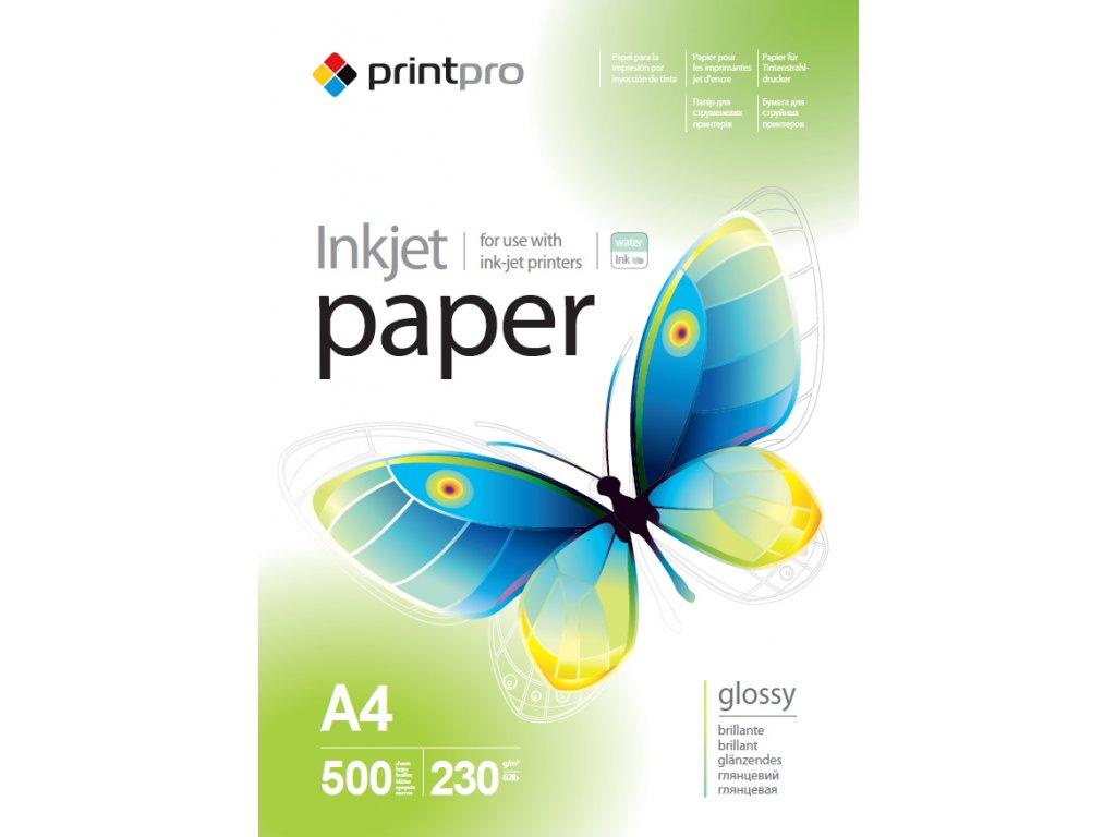 Fotopapier PrintPro Vysoko lesklý 230g/m2,500ks,A4