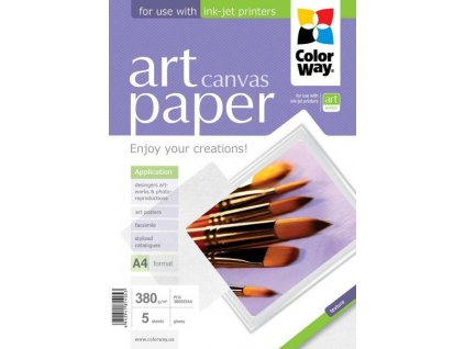 Fotopapier CW ART Cotton Canvas (foto plátno) 380g/m²,5ks,A4