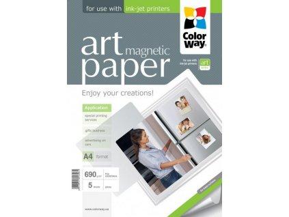 Fotopapier CW ART Lesklý Magnetický 690g/m²,5ks,A4
